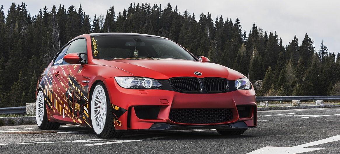Mit dem 3er BMW E92 unterwegs in den Bergen